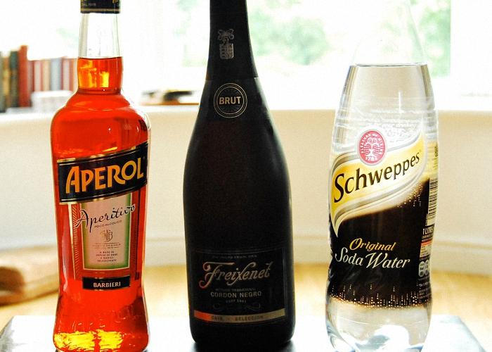 Шампанское апероль и газированная вода