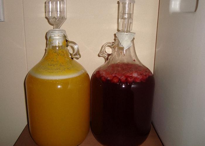 Добавить к меду фруктовый сок и поставить бродить