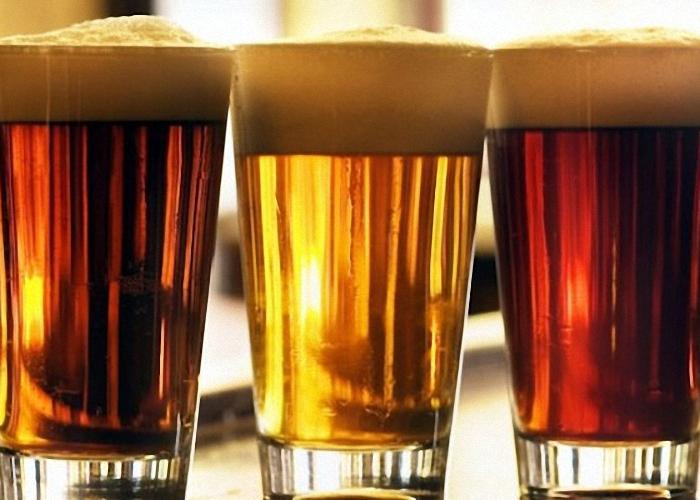 Пиво из солода и ячменных зерен