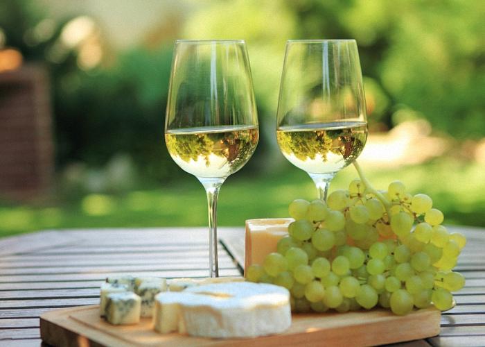 Белое домашнее вино из винограда