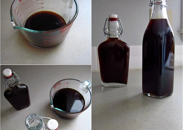 Домашний кофейный ликер процедить и перелить в бутылку