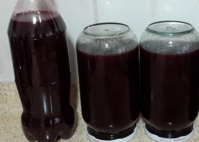 Молодое вино из слив процедить перелить в бутылки