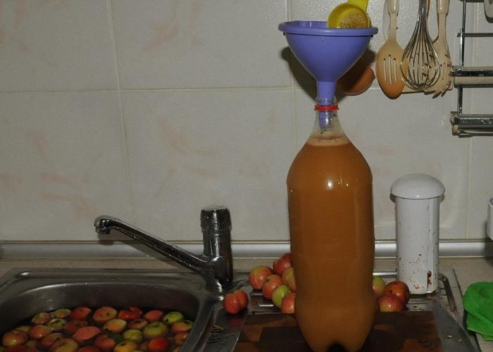 Из спелых яблок выдавить сок