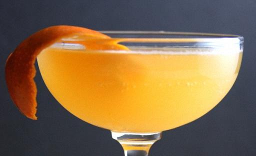 По желанию коктейль можно украсить апельсиновой цедрой