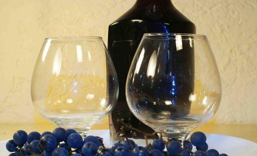 Настойка из винограда на коньяке